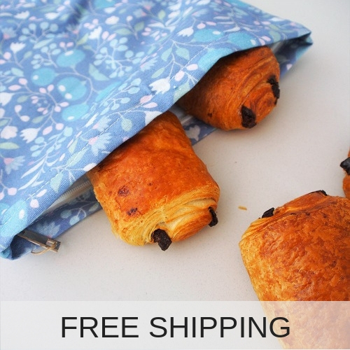 4myearth reusable bread bag flower free shipping