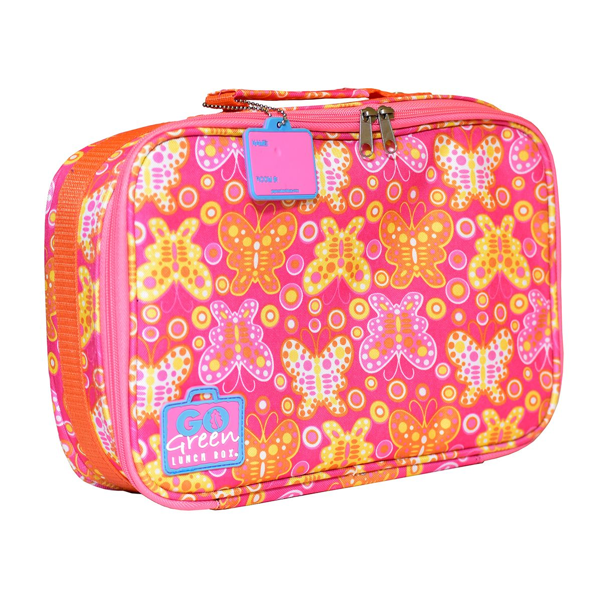 go green lunch box set butterfly