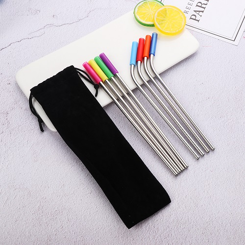 stainless steel straws with silicone tips