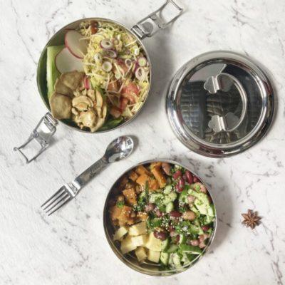 stainless steel lunchbox green essentials