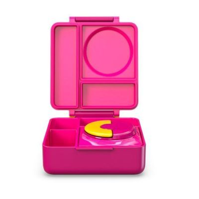 omie insulated lunch box pink berry
