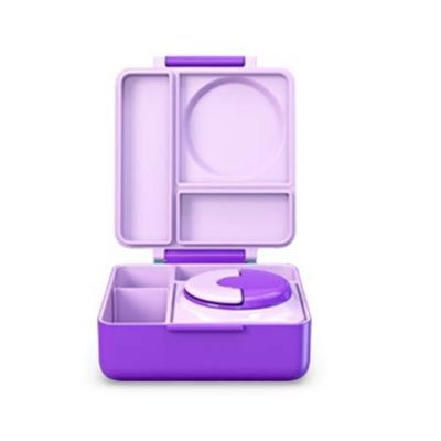 omiebox insulated lunch box purple plum