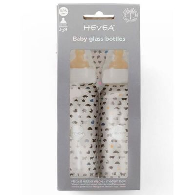 glass baby bottle hevea 240ml