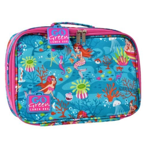 go green lunch box with insulated cooler bag
