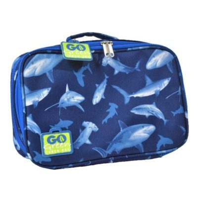 insulated lunch bag go green shark