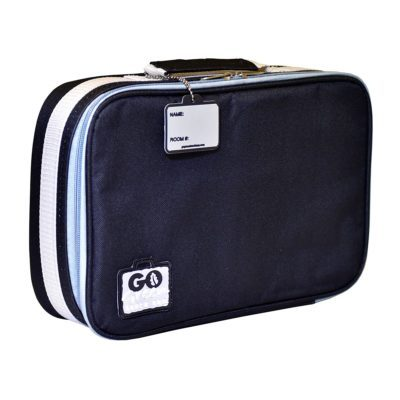 go green lunch box bag black