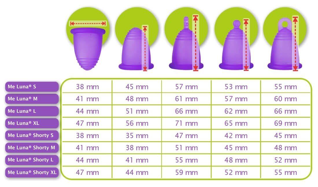 me luna Australia menstrual cup sizes