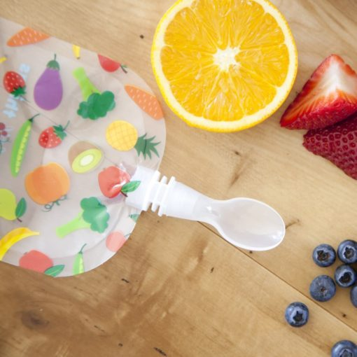 weaning spoon for reusable food pouch
