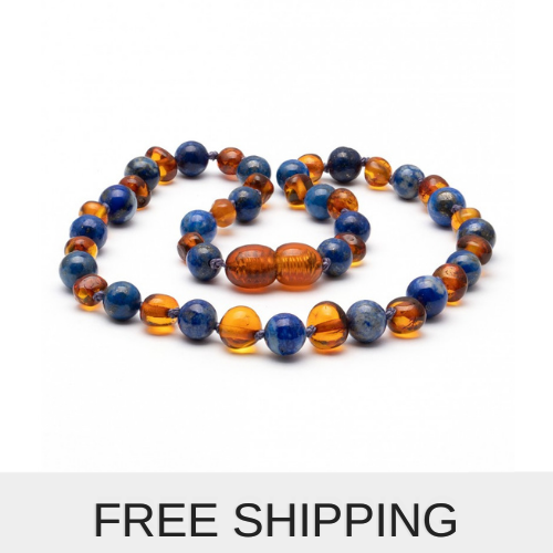 amber teething necklace for babies