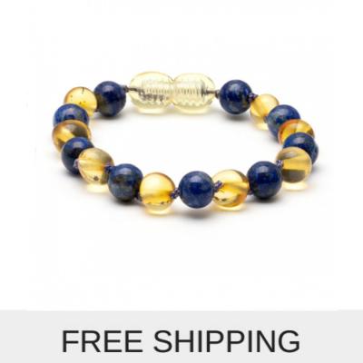 Amber Baby Bracelet / Anklet 14 cm