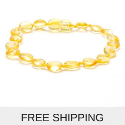 lemon amber bracelet