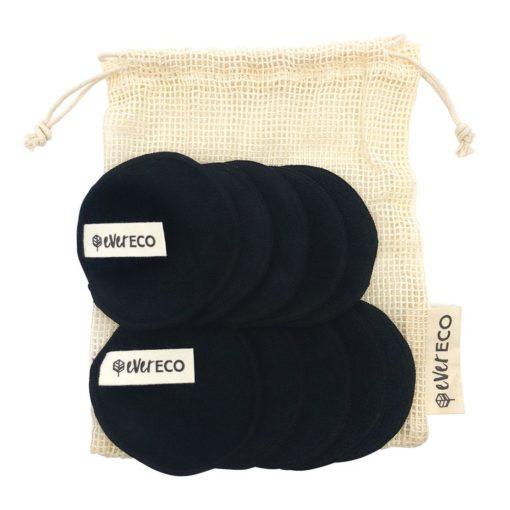 black reusable make up pads